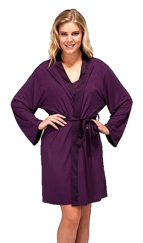 Ladies Modal Summer Dressing Gown Robe Wrap: Amazon.co.uk: Clothing