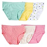 Closecret Kids Series Baby Soft Cotton Panties Little Girls' Assorted Briefs(Pack of 6) (2-3 Years, Multicoloured)