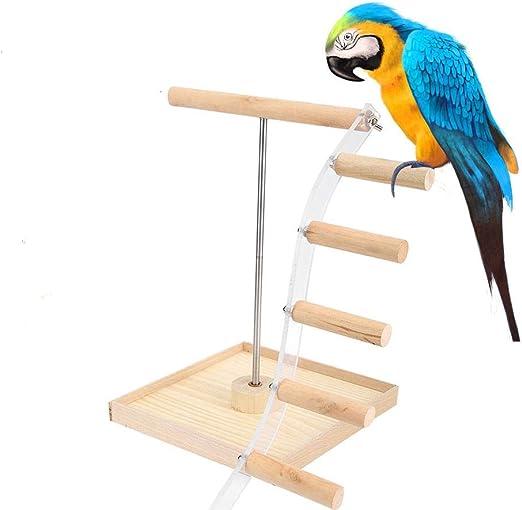 Soporte para Mascotas Soporte de Escalera Escalera de Juguete Modelo Loro Percha Columpios Juguetes Madera + Metal Loro Perca de Escalada Loro Jaula Juguetes para el Descanso Entrenamiento: Amazon.es: Productos para mascotas