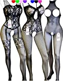 Daisland 3 Women Lingerie Sleepwear Bodystocking Bodysuit Babydoll Chemise Teddy