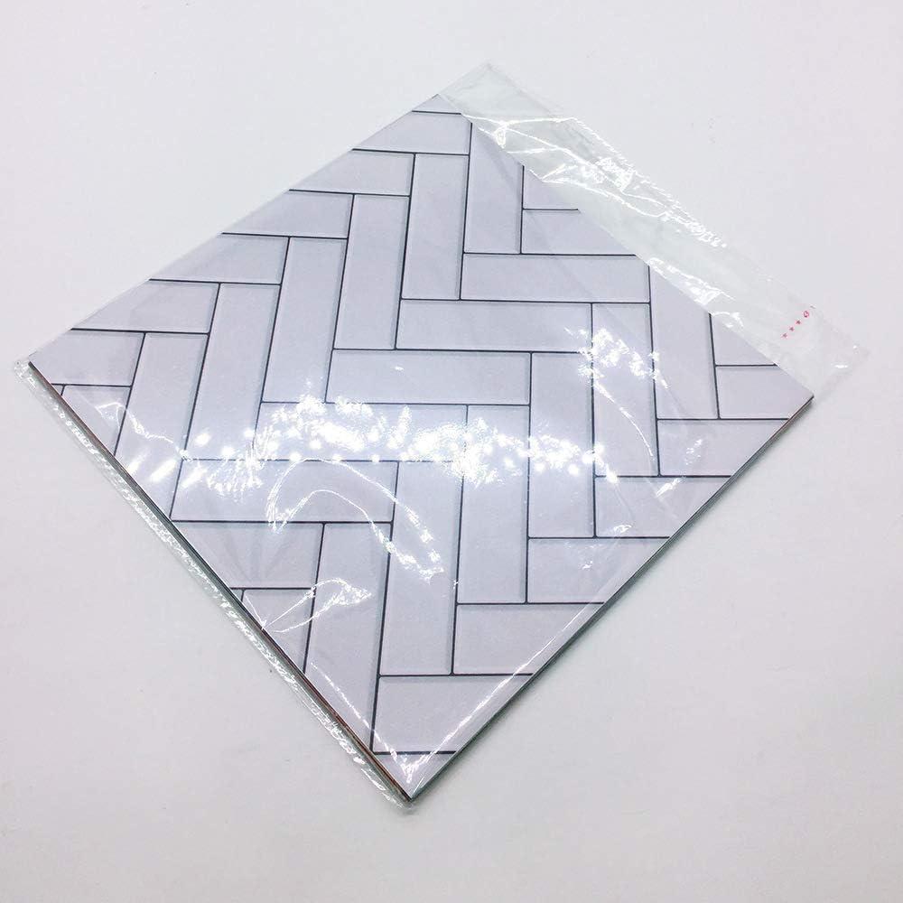 Resistente al Aceite Adhesivo y a Prueba de Salpicaduras 4 Unidades Azulejos de ba/ño 23 cm x 23 cm Multicolor Medium Ruosaren Adhesivo para Azulejos de Cocina Impermeable