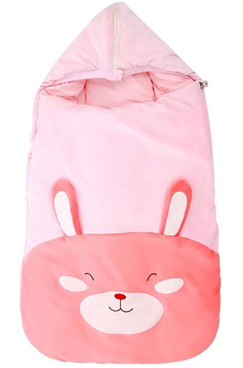 Happy Cherry Saco de Dormir para Invierno con Termómetro Sleep Bag Calentito Grueso Dibujo Animado Bebé