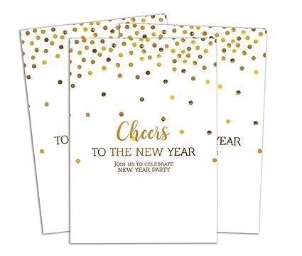 Darling Souvenir Blanco Año Nuevo Tarjeta De Invitación Para