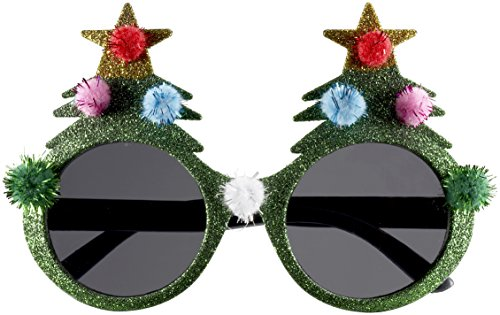 Holiday Adult Costumes (Forum Novelties Novelty Holiday Glasses, Christmas Tree, One Size)