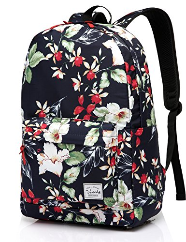 Backpack for girls,Fashion Floral College Student School Backpack by Vaschy