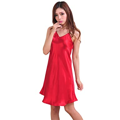 9285c9d6e5a Ladies Sexy Satin Chemise Nightie
