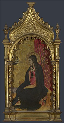 Oil Painting 'Giovanni Dal Ponte The Virgin Annunciate Right Pinnacle' 16 x 31 inch / 41 x 78 cm , on High Definition HD canvas prints is for Gifts And Bar, Home Office And Laundry Room decor, fast