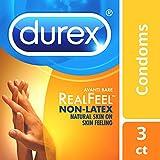 Condoms, Non-Latex Durex  Avanti Bare RealFeel Condom, 3 Count