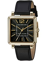 Womens Vic Black Leather Watch - MJ1522