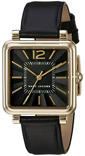 Marc Jacobs Women's Vic Black Leather Watch - MJ1522