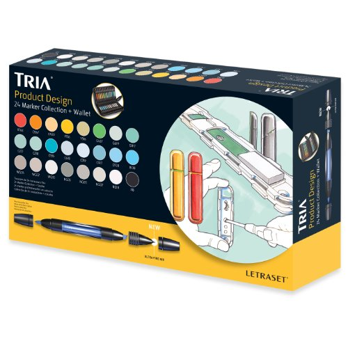 Tria Marker Pen 24 Pen Set - Product Design by Letraset