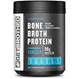 Original Bone Broth Protein Powder (30 Full Servings) | Vanilla | Paleo Protein, Keto & Low Carb Friendly Supplement for Gut & Joint Support | Non GMO, Gluten Free, Soy Free & Dairy Free