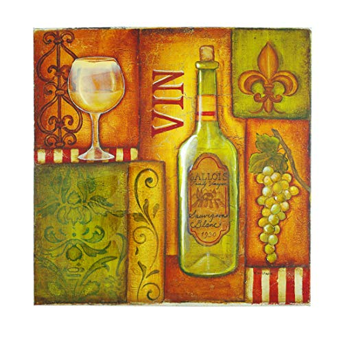 (QIANQUHUI Wall Art, Canvas Prints Pictrure for Home Decorations Inch Picture Frame 24X36 12x36 24x24inch (Vin Blanc, 24x24))