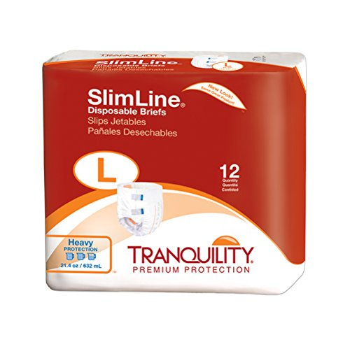 Tranquility Slimline Original Adult Disposable Brief - LG - 96 ct