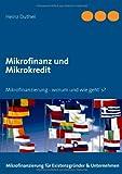 Mikrofinanz und Mikrokredit, Heinz Duthel, 3732241246