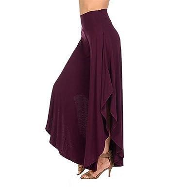 HaiDean Pantalon Mujer Pantalones Anchos Pantalones Verano ...