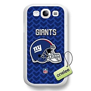 NFL New York Giants Team Logo Samsung Galaxy S3(i9300) White Hard Plastic Case Cover - White