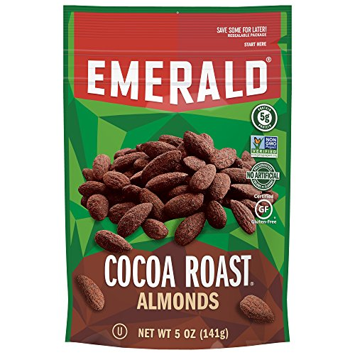 Emerald Nuts, Cocoa Roast Almonds, 5 Ounce Resealable Bag