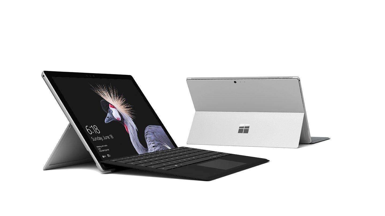 HGG-00004 Surface Pro ブラック タイプ カバー セット シルバー系(Win 10 Pro)   B077HVD562