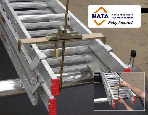 LokaLadda LL101 Quick Lock/Release Steel Ladder Clamp with 2-Padlocks