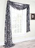 Zebra Curtains Gorgeous HomeDIFFERENT SOLID COLORS AND ALSOANIMAL PRINT 1PC SCARF VALANCE SOFT SHEER VOILE WINDOW TOPPER SWAG PANEL CURTAIN 216