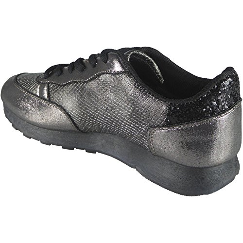 Ladies Running Trainers Womens Fitness Gym Light Sports Comfy Lace Up Shoes Size 3-8 SERPENT Vl6ibVXYRb