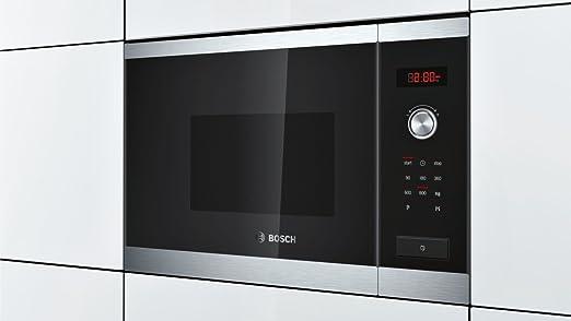 Bosch HMT75M654 - Microondas, 1270W, 220-230 V, acero inoxidable, reloj electrónico programable, color negro