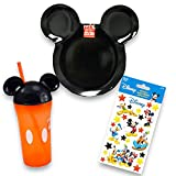 kids mickey mouse dishes - Disney Mickey Mouse Toddler Dinnerware Set - Plate, Tumbler Cup and Stickers (Mickey Mouse)