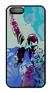 Black Plastic Back Protective Cover Case Covered with Colorful Abstract Painting Forest Fantasy for Apple iPhone 5 and iPhone 5S-01