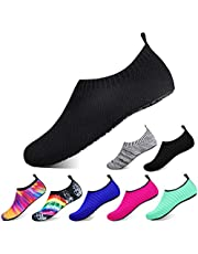 semai Water Shoes Quick-Dry Swimming Socks, Non-Slip Soft Beach Shoes Barefoot Water Sports Shoes Breathable Aqua Socks for Women Men Kids, Elastic Easy-fit Footwear for Beach Swimming Yoga Diving