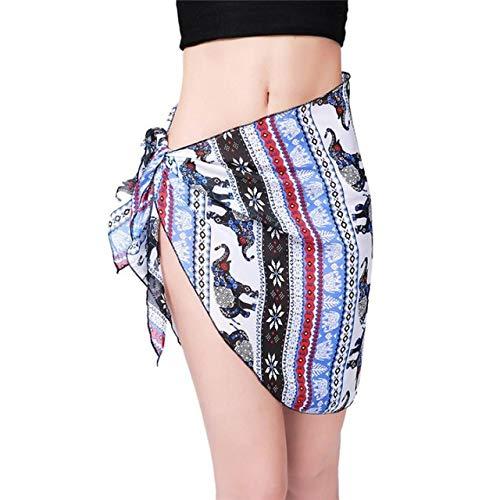 CUSHY Womail Women Beach Cover Up Chiffon Kirt Bikini wimwear Coverup Wrap Kirt wimuit aida de Praia #A40: