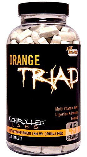 Controlled Labs Orange Triad: Multivitamin, Joint, Digestion, and Immune