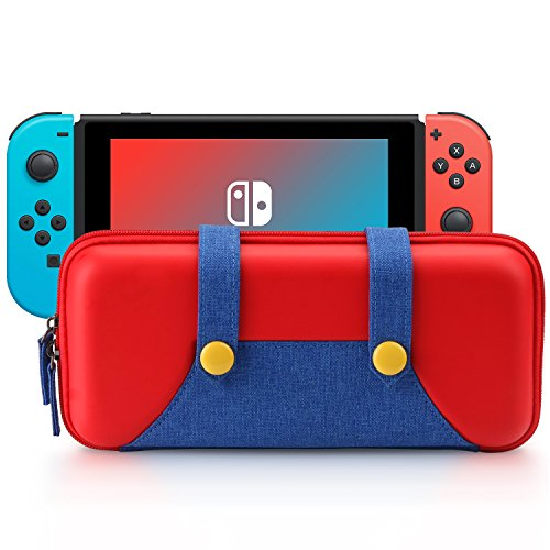 Hometty Carrying Case Compatible with Nintendo Switch - Protective Hard Shell Portable Travel Carry Case Bag for Nintendo Switch Console & Accessories