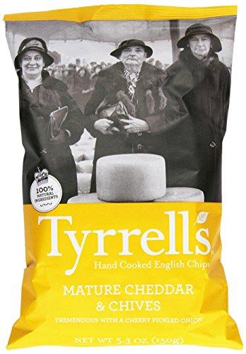 Tyrrell's Crisps, Crisps, Mature Cheddar & Chive, 5.3 Ounce (Low Chips Salt Potato)