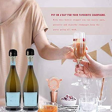 Haudang 1 bomba de vacío de vino con escala de tiempo y 2 tapones de champán, botellas reutilizables de corcho, espuma de vino