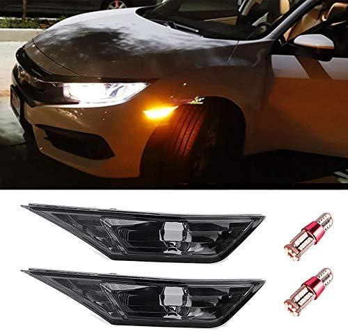 Auto Blinker Indikator Ersatz Nebellinse mit T10 LED Birnen SYWAN 1 Paar Auto Seitenmarkierung Blinker f/ür 2016-2018 Honda Civic