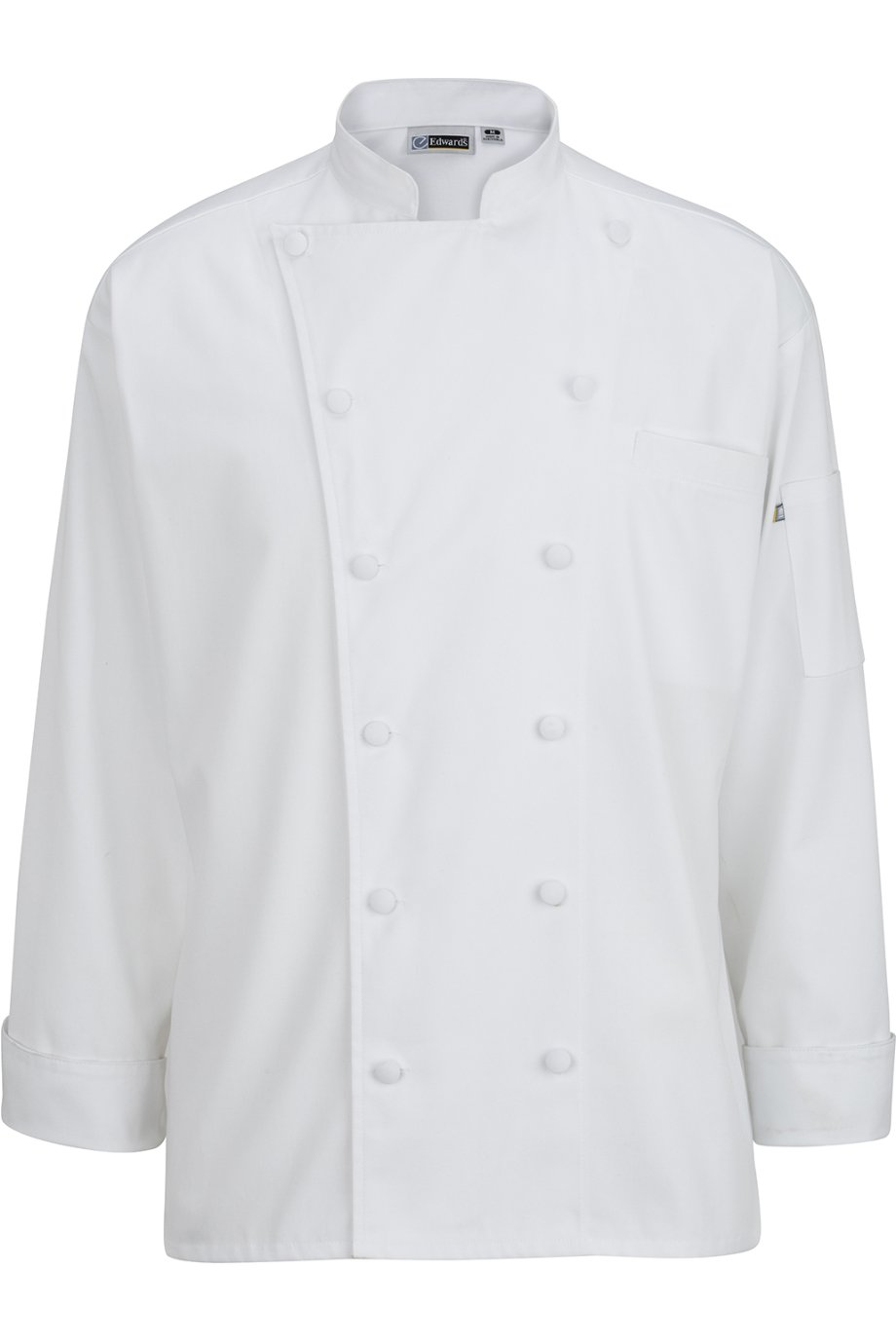 Edwards 12 Cloth Button Classic Chef Coat, White, XXXX-Large by Edwards