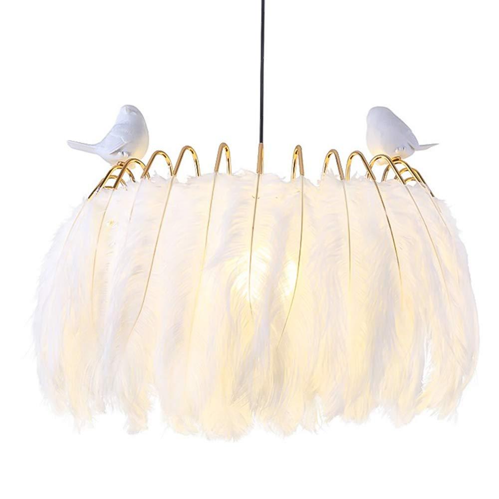 北欧の羽のシャンデリア、現代のLEDゴールド鉄の鳥の樹脂形の子供の照明シャンデリア天井ランプクリエイティブカフェダイニングテーブルラウンドペンダントライト (設計 : B, サイズ さいず : 50 cm 50 cm) 50 cm 50 cm B B07SBMKC6D