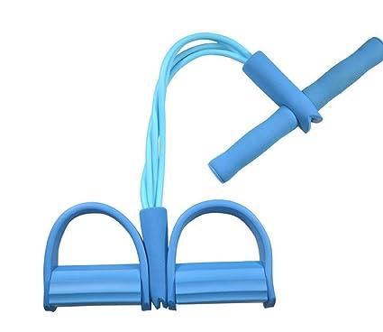 ZHJZ - Cuerda elástica para entrenamiento de resistencia, pedal elástico con 4 tubos de látex