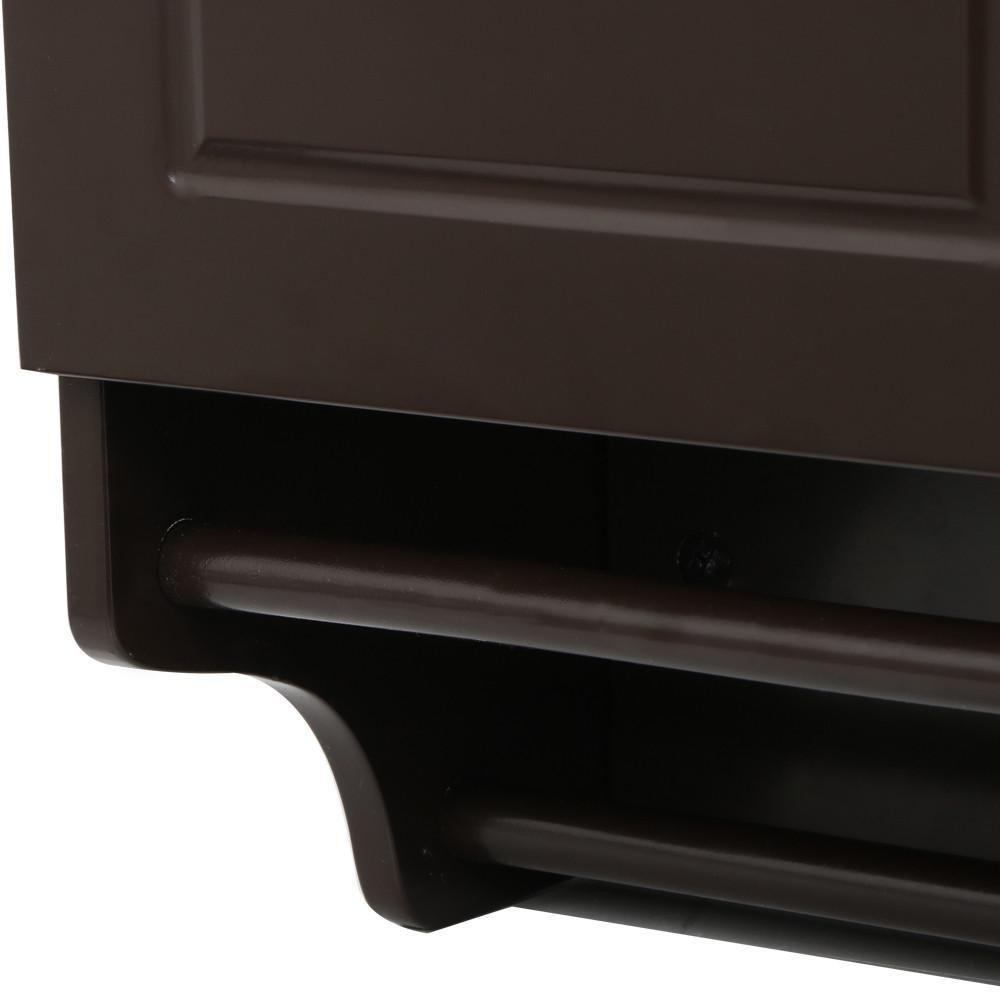 go2buy Wall Mounted Cabinet Kitchen/Bathroom Wooden Medicine Hanging Storage Organizer, Espresso
