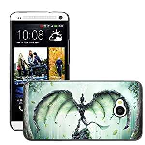 Hot Style Cell Phone PC Hard Case Cover // M00045817 artistic forest fantasy guardian // HTC One M7
