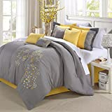 Chic Home 8-Piece Embroidery Comforter Set
