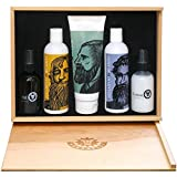 Beardsley In The Box Beard Care Gift Set - Full Size Shampoo, Conditioner, Lotion and Oil.