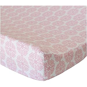 Oliver B Changing Pad Cover – Pink Petals