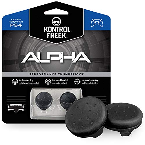 KontrolFreek Alpha Performance Thumbsticks for PlayStation 4 (PS4) and PlayStation 5 (PS5) Controller | 2 Low-Rise…