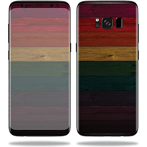 MightySkins Skin for Samsung S8 - Wood Style   Protective, Durable, and Unique Vinyl Decal wrap Cover   Easy to Apply, Remove, and Change Styles   Made in The USA
