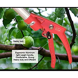 SUHA DCM 4 ft - 7.2ft Telescoping Cut and Hold Long Reach Bypass Garden Pruner, Pole Saw, Extendable saw, Fruit Picker Harvester, Gardening Shear (4-7.2 Feet Telescoping)