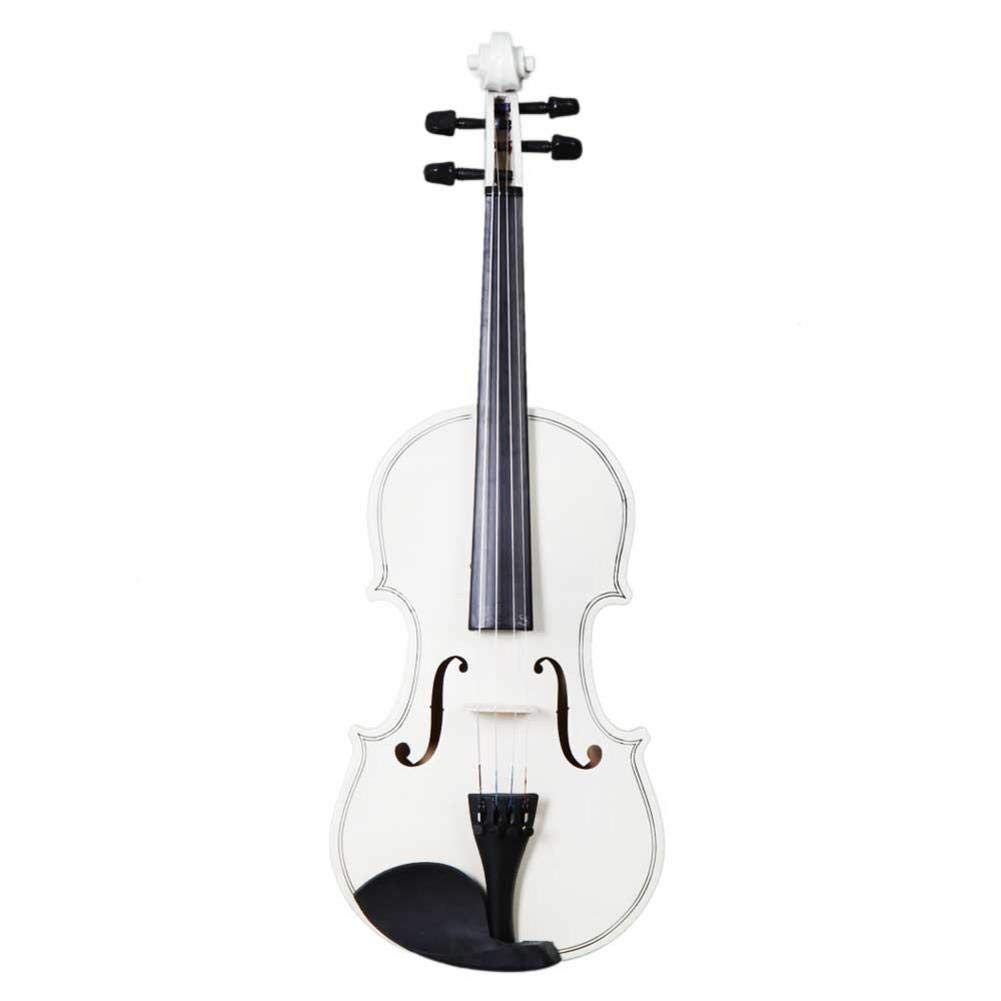 reakfaston White 4/4 Acoustic Violin with Case/Bow/Rosin