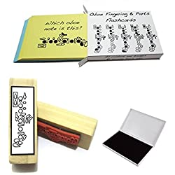 Oboe Student Gift Pack (Flashcards, Fingering Rubber Stamp & Pad!)