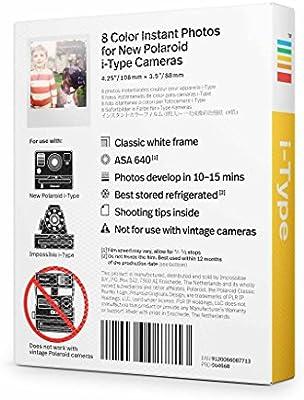 Polaroid Originals - 4668 - Película Color para cámara i-Type ...
